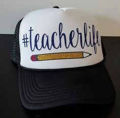 Teacherlife Trucker Hat with Pencil 31c8cf86399e