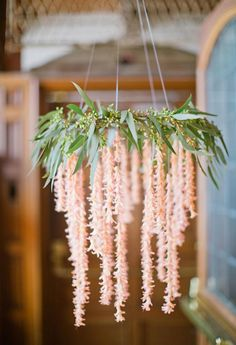 flower and garland wedding chandelier