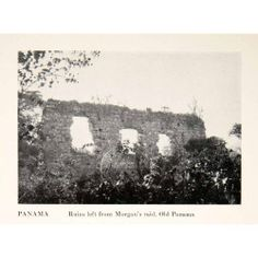1923 Print Captain Henry Morgan Raid Ruins Panama Pirate