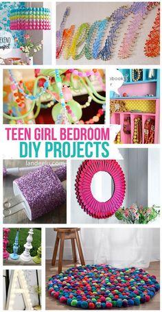 Girl Bedroom DIY Projects Bedroom Ideas DIY for teens - Teen Girl Bedroom DIY Projects. all so easy and inexpensive!Bedroom Ideas DIY for teens - Teen Girl Bedroom DIY Projects. all so easy and inexpensive! Bedroom Diy Teenager, Teen Girl Bedrooms, Bedroom Decor For Teen Girls Diy, Diy Projects For Bedroom, Diy Crafts For Teen Girls, Trendy Bedroom, Girl Rooms, Teen Room Crafts, Teen Summer Crafts