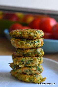 Retete vegetariene delicioase: Chiftele de post, din legume si verdeturi – Maria Nicuţar Baby Food Recipes, Zucchini, Vegetarian Recipes, Vegan, Vegetables, Pixi, Mariana, Diet, Fine Dining
