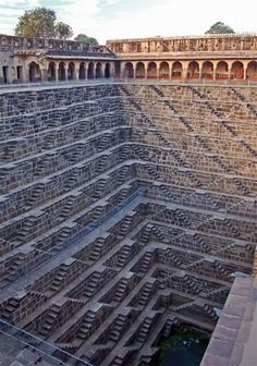 The deepest stair well in the world. Rajasthan, India.