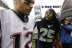 """Seahawks DB Richard Sherman Intercepts Tom Brady, Snickers At Him With """"U Mad Bro?"""" Picture On Twitter After The Game"""