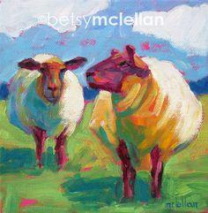 Sheep - Sheep Art - Sheep Print - Matted Giclee Print. $19.00, via Etsy.