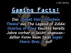 """Das """"Great Fairy Fountain Theme"""" aus Legend of Zelda: Ocarina of Time tauchte bereits Jahre vorher in leicht abgewandelter Form beim Spiel Super Mario Bros. 3 auf!"""