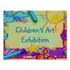 Children's Art Exhibition Poster