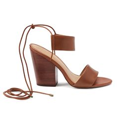 Introducing Stitch Fix Shoes: Lace-Up Stacked Heel Sandals