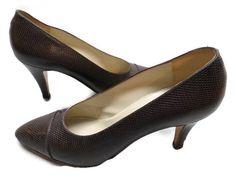 Chanel Pumps Brown Size 7 Lizard Italy Stiletto #Chanel #PumpsClassics #WeartoWork