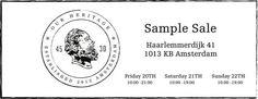 4530 Sample Sale -- Amsterdam -- 20/06-22/06