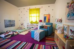 MONTESSORI NURSERY eclectic kids. Pantone Color of the Year 2014. Incorporated through the carpet.