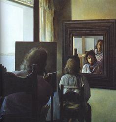 Dali Painting Gala Behind His Back