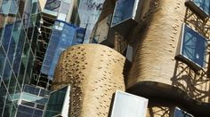 The brick facade of the new UTS Gehry building. Photo Dominic Lorrimer