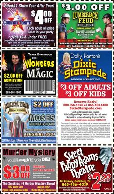 Pigeon forge coupon book 2019