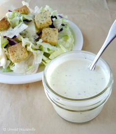 Creamy, homemade buttermilk ranch salad dressing. A simple and delicious recipe. You'll never want store-bought again.