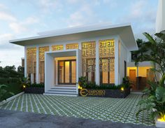 Villa Design, Facade Design, House Design, Mosque Architecture, Architecture Design, Style Villa, Cabana, Architectural Services, Beautiful Mosques