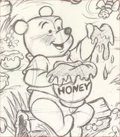 Winnie the Pooh <3 I would totally draw this