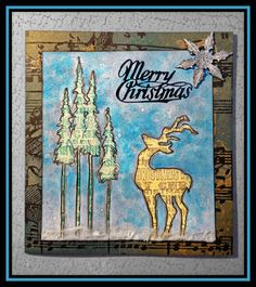 Studio L3: Compendium of Curiosities Challenge 28!  Great card by Linda Ledbetter using reflections stamps!