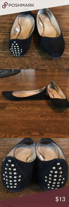 Missimo flats Suede, pointed toe, gold studded flats. Mossimo Supply Co Shoes Flats & Loafers