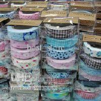 Wholesale Washi Masking Tape DIY Cloth Grid Stickers Cute Creative Stationery Colorful Sticky Japanese style