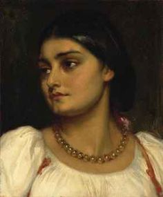 Frederic Lord Leighton - Head of a Roman Model