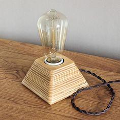 Lámpara de Edison lámpara Wood madera lámpara de Edison