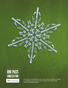 Silver Star Mountain Resort: Green | #ads #marketing #creative #werbung #print #poster #advertising #campaign < repinned by www.BlickeDeeler.de | Follow us on www.facebook.com/blickedeeler