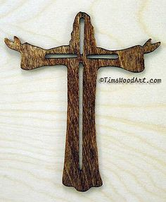 Christ The Redeemer Cross, for Wall Hanging or Ornament, TimsWoodArt, Item S3-5