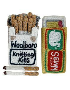 Kate Jenkins - Woolboro 2, Handknit of 100% lambswool. Her playful art makes me smile.