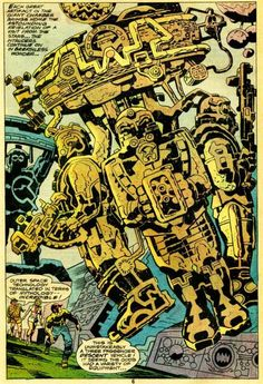 Jack Kirby gave the reader a front seat with a vantage point that provided an extraordinary experience. MS