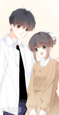 Anime Cupples, Anime Chibi, Kawaii Anime, Manga Couple, Anime Love Couple, Anime Couples Drawings, Anime Couples Manga, Anime Girl Cute, Anime Art Girl