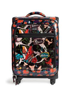 This Black Red Peace Artist Circle Carry-On by Sakroots is perfect! Womens Luggage, The Perfect Getaway, Carry On Suitcase, New Shop, Luggage Bags, Travel Bags, Artist, Red, Leather