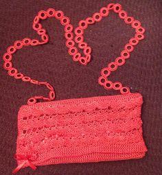 A lovely read handmade purse