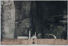 87-風の背骨-7 / 87-Backbone of the Wind-7(66x99cm) copperplate print (etching) with chine collé 林孝彦 HAYASHI Takahiko