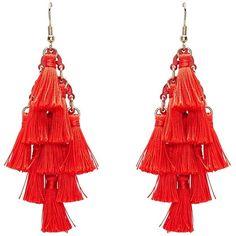 RED DIAMOND TASSEL EARRINGS ($15) ❤ liked on Polyvore featuring jewelry, earrings, diamond jewellery, red tassel earrings, red earrings, diamond earrings and red jewelry