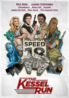 """Spoof of """"Canonball Run"""". Less than 12 Parsecs too..."""