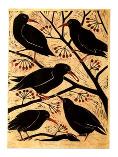 Lisa Hooper: Choughs in a Tree