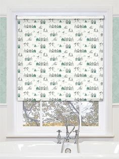 Boathouse Aqua Roller Blind From Blinds 2go