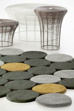 Wool #rug with geometric shapes CÍRCULOS by GAN By Gandia Blasco | #design José Antonio Gandía-Blasco @GANDIABLASCO