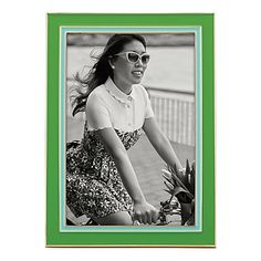 kate spade new york Portland Place™ 4-Inch x 6-Inch Frame in Green/Turquoise