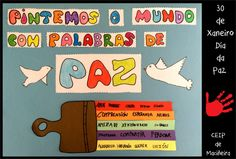 AulaTic School Murals, Origami, Arts And Crafts, Peace, Day, School Kids, Quotes, Murals, School Projects