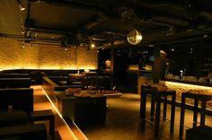 Bar Wandgestaltung mit Beleuchtung