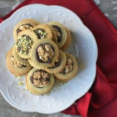 These middle eastern inspired cookies are beautiful to look at and delicious.  Butter goodness and flavor of pistachio are perfect as gifts....