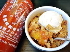 Sriracha Peach Crisp