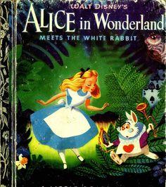 alice in wonderland; vintage children's book illustration