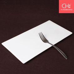 //.aliexpress.com/item/Porcelain-flat- & Pure white rectangular flat plate flat tray creative sushi plate ...