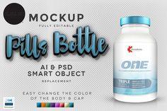 Realistic Pills Bottle V3 by Black.dot™ on Creative Market