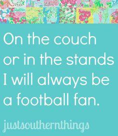 I will always be an SEC football fan!