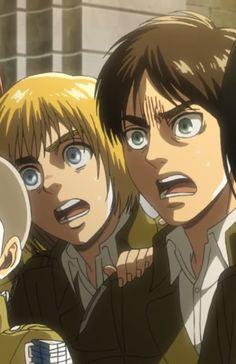 Armin & Eren Attack on Titan season 3 Eren X Armin, Eren And Mikasa, Cute Anime Boy, Anime Love, Attack On Titan English, Attack On Titan Season, Team Rwby, Online Anime, Ancient Mysteries