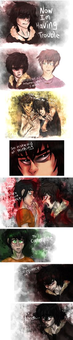 Flawed Design - Nico di Angelo by sjsaberfan.deviantart.com on @deviantART<--I don't ship either of these but this was just... I couldn't just not repin it!----- I ship both.....<-- IM HAPPY WITH WISE GIRL. And I think Leo is trying to get with Calypso..