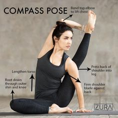 ✨Pose of the week:✨ Compass Pose, get ready hamstrings and hips, this one's for you! ⠀ ⠀ ✨Benefit
